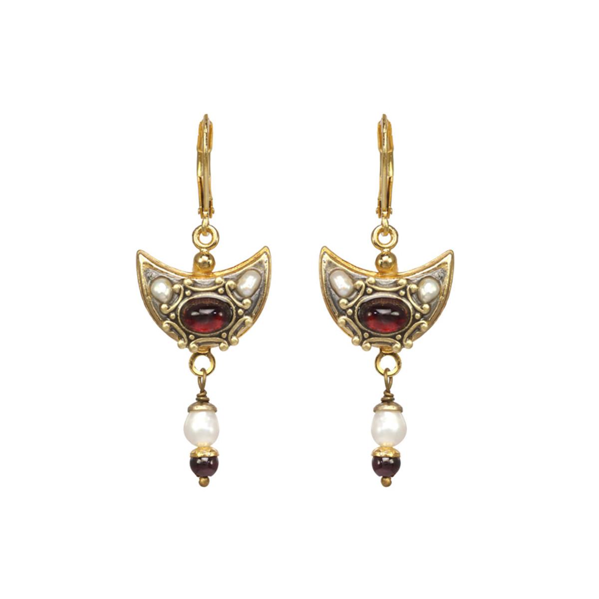 Michal Golan Victorian Crescent Earrings