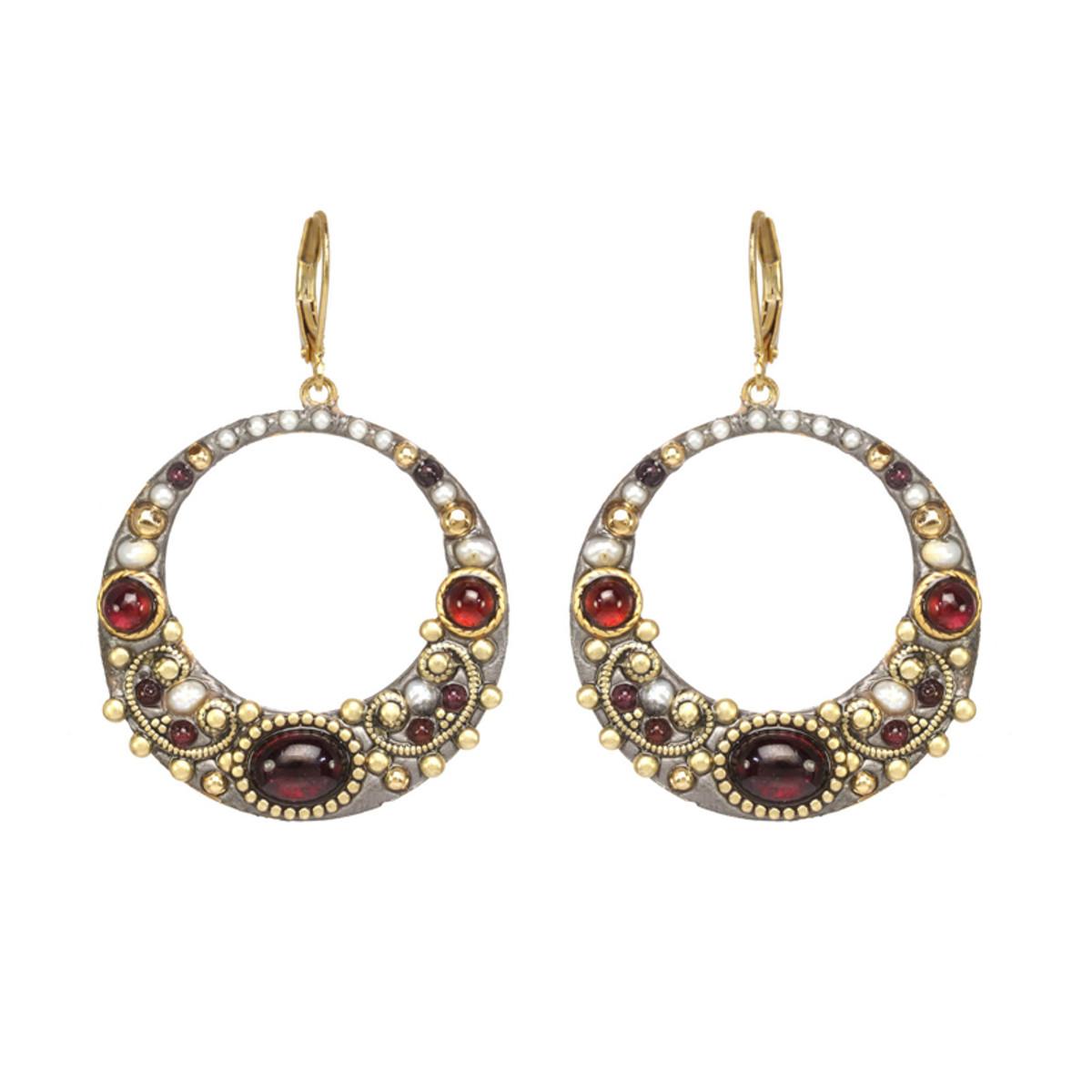 Michal Golan Victorian Hoop Earrings