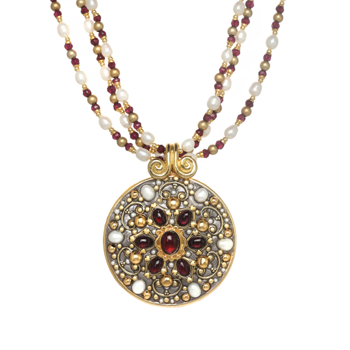 Michal Golan Victorian Medallion Necklace