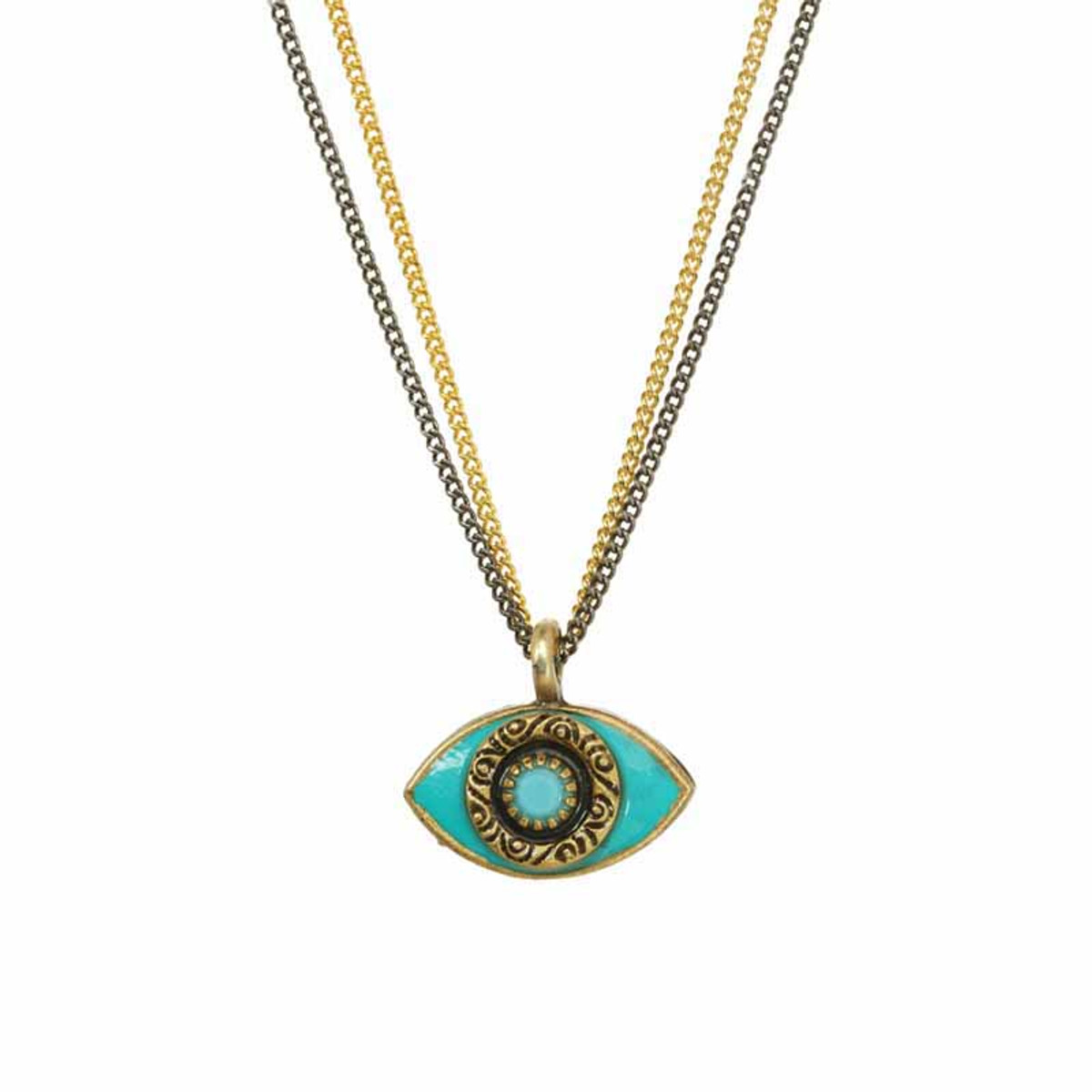 Michal Golan Small Turquoise Evil Eye Necklace