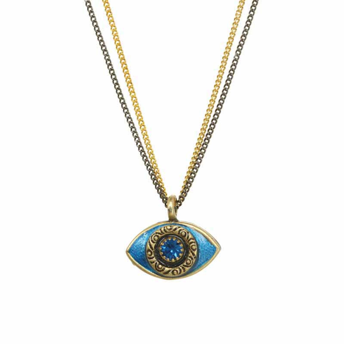 Michal Golan Small blue evil eye necklace