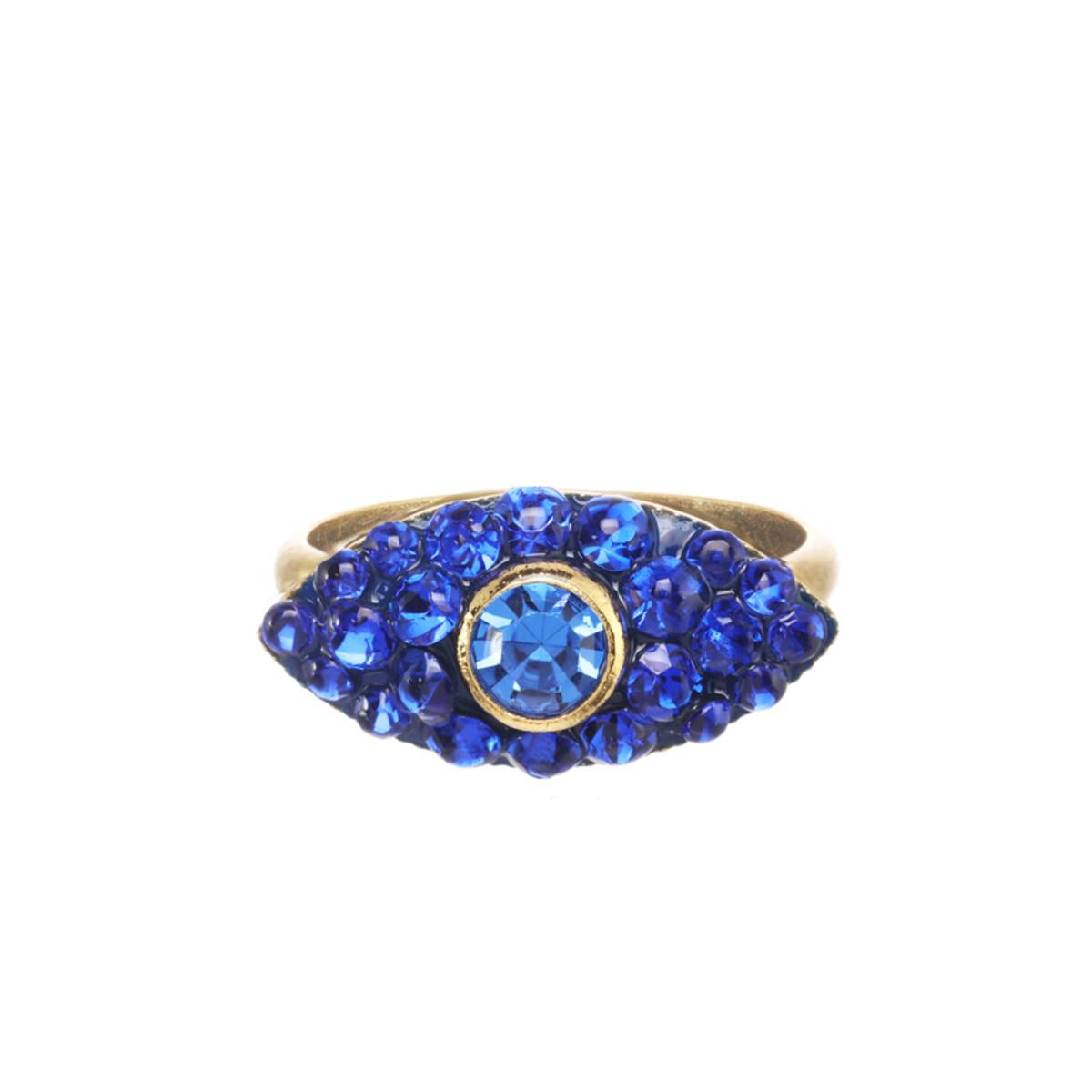 Michal Golan Dazzling Blue Small Adjustable Eye Ring