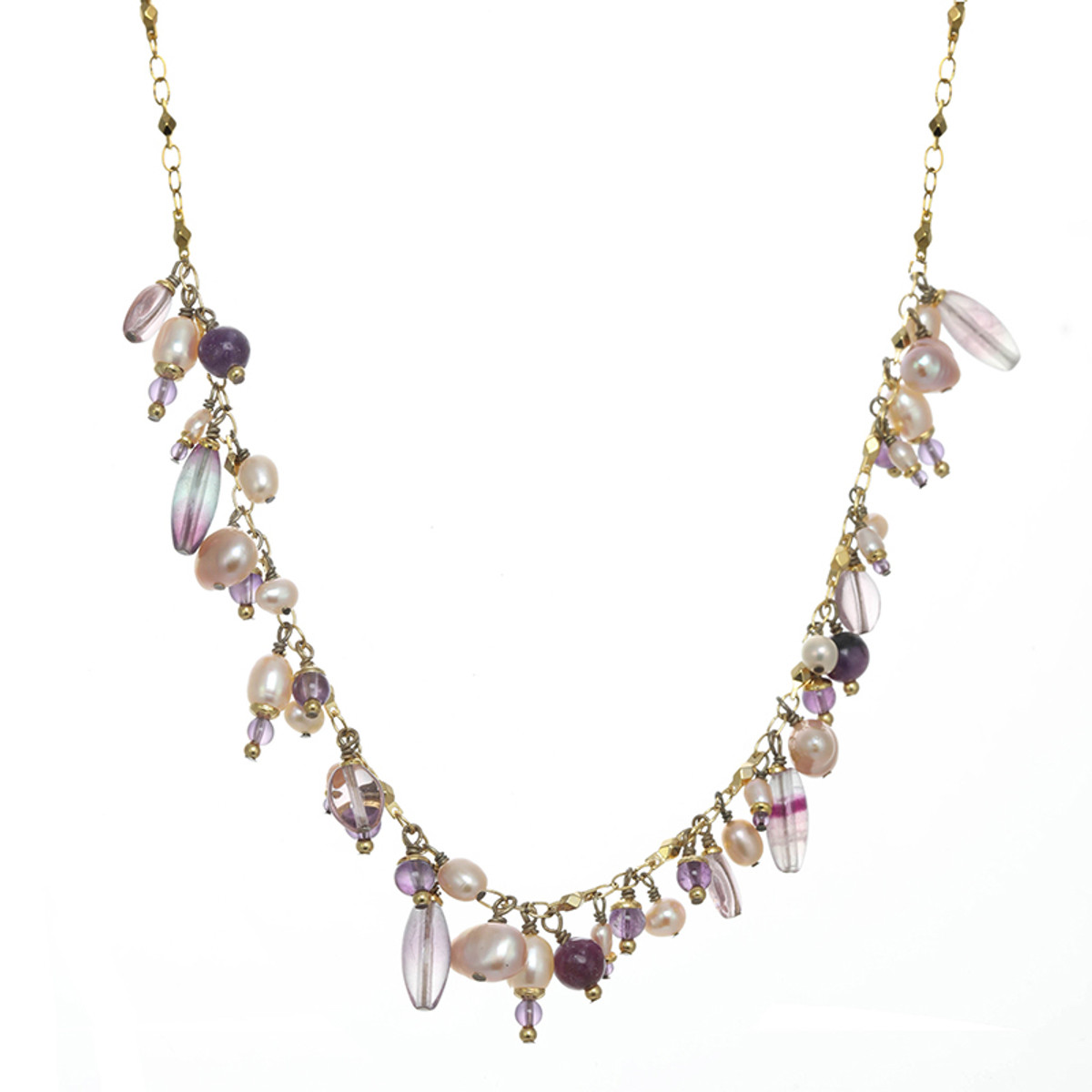 Michal Golan Amethyst Charm Necklace