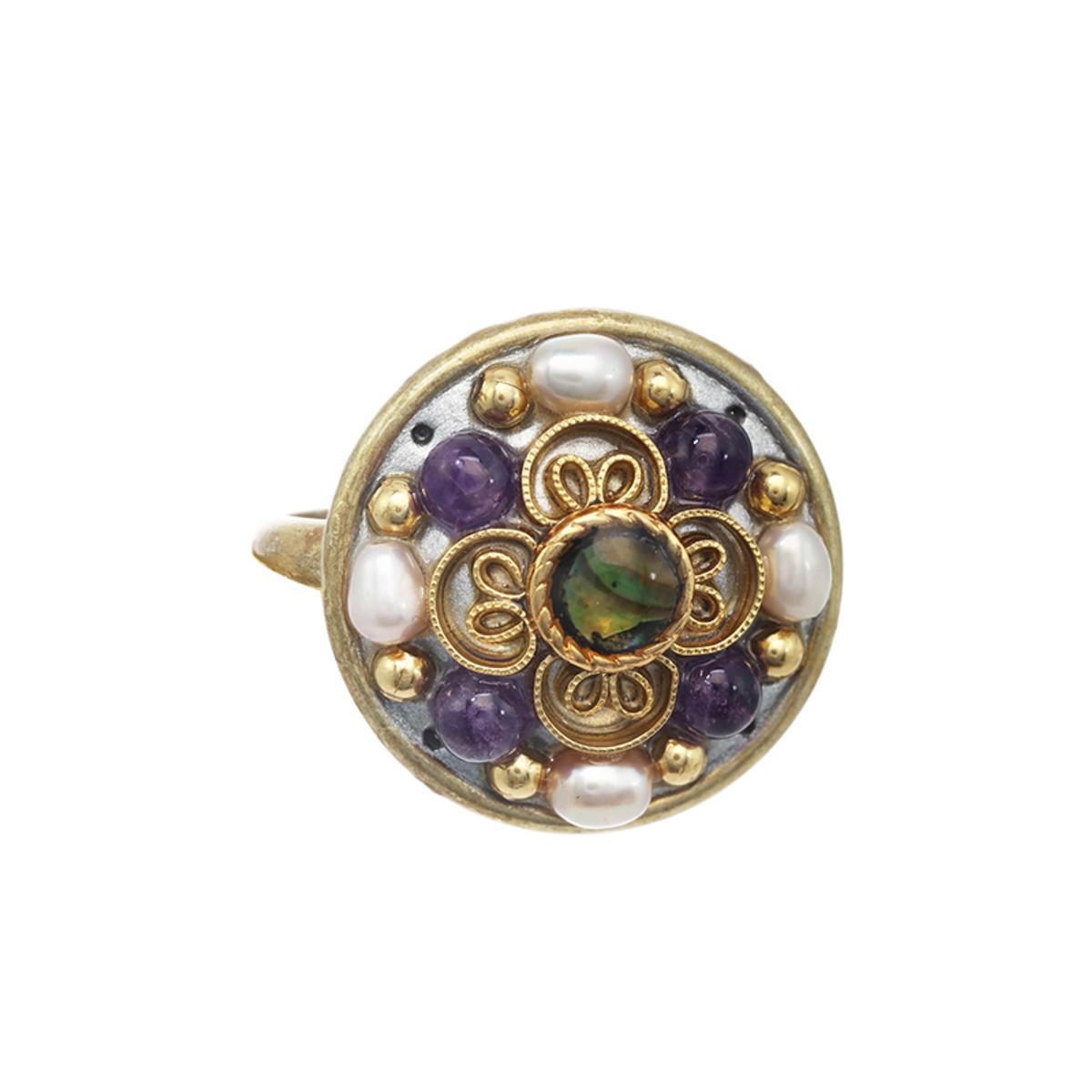Michal Golan Amethyst Circle Ring