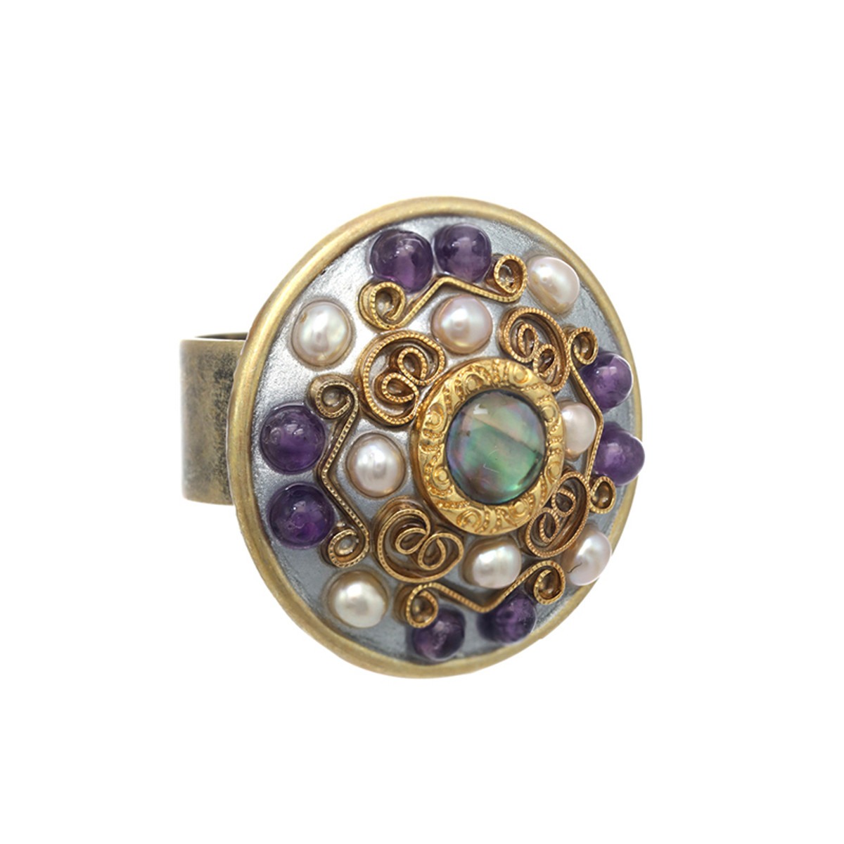 Michal Golan Amethyst Large Circle Ring