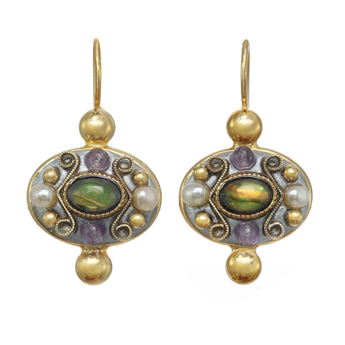 Michal Golan Amethyst Oval Earrings