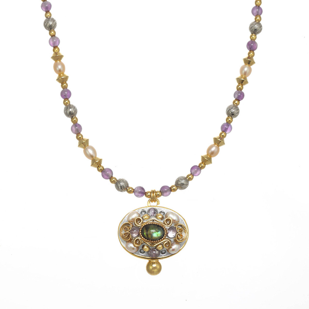 Michal Golan Amethyst Oval Necklace