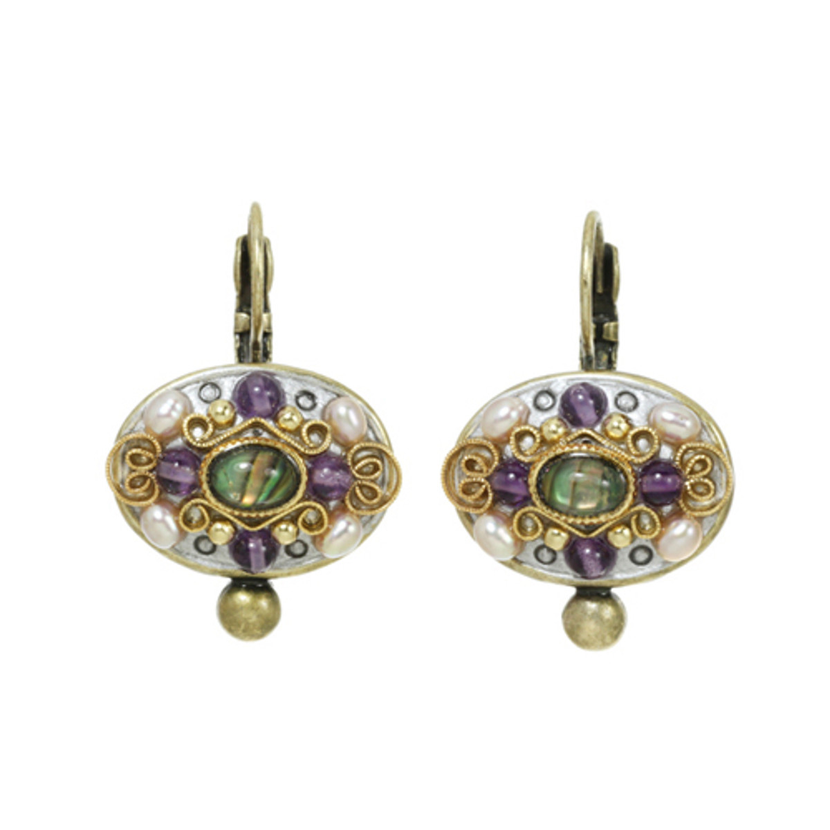 Michal Golan Amethyst Oval Earrings II