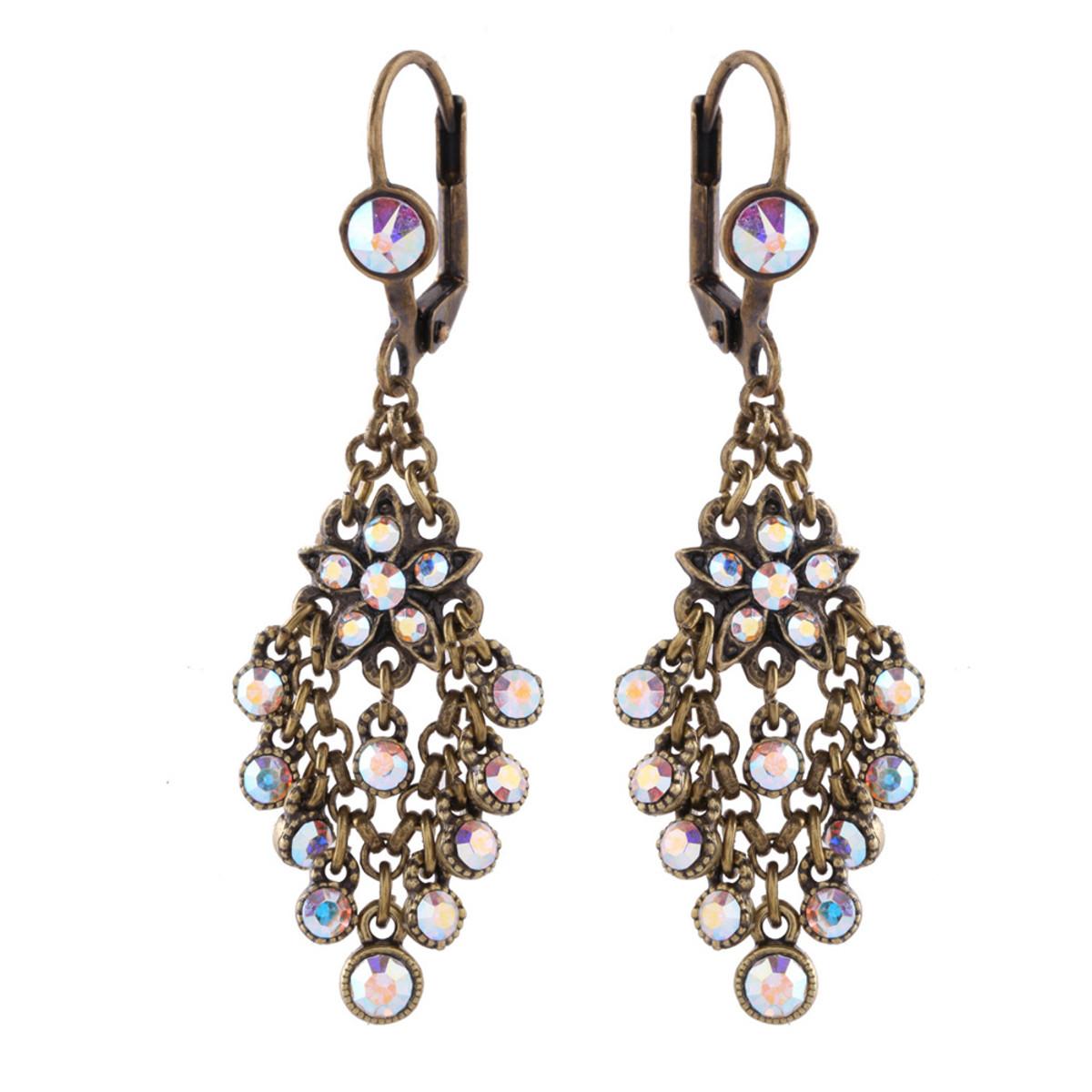 Michal Negrin Castle Dangle  Earrings