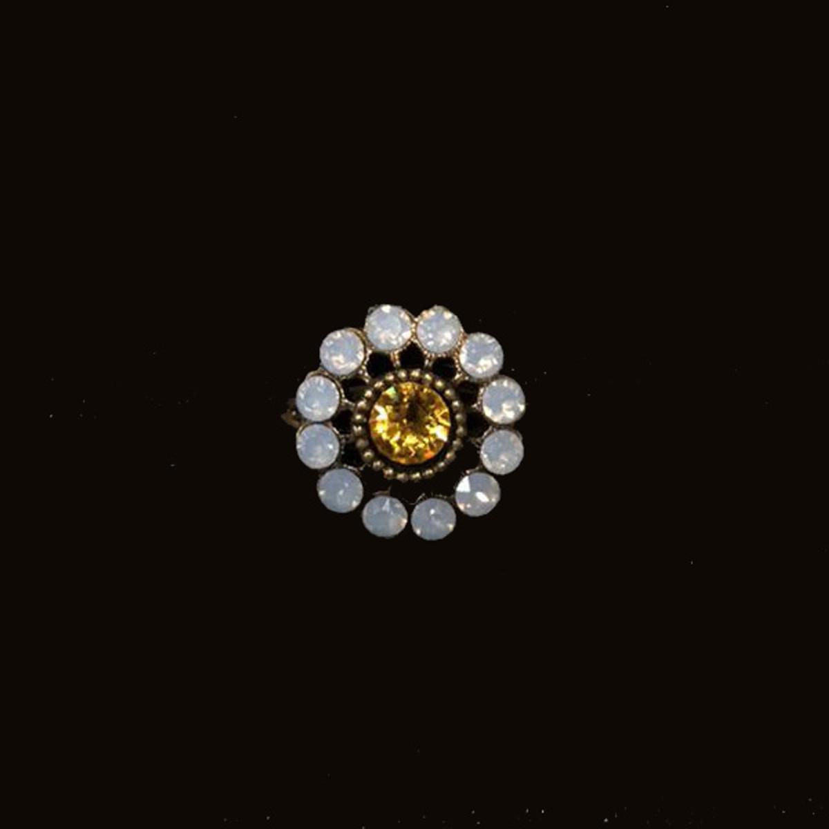 Michal Negrin Crystal Flower Adjustable Ring