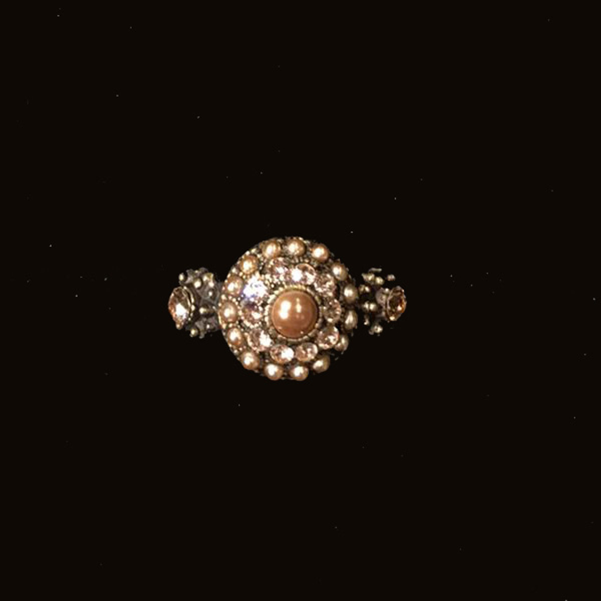 Michal Negrin Classic Arresting Flower Adjustable Rings