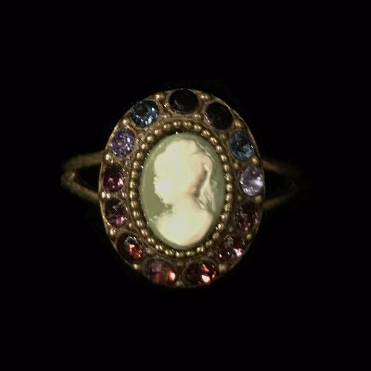 Michal Negrin Victorian Crystal Adjustable Ring