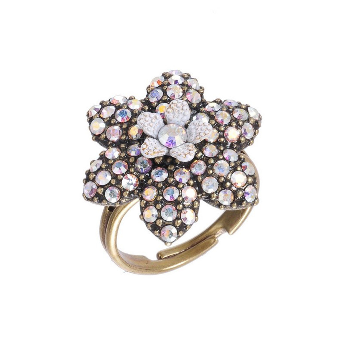 Michal Negrin Sparkly Flower Ring