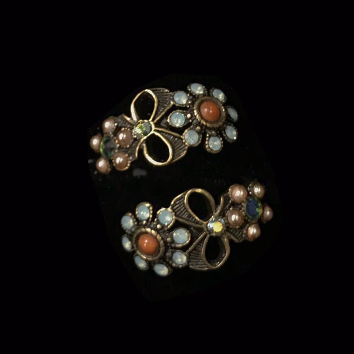 Michal Negrin Spiral Flower Adjustable Ring