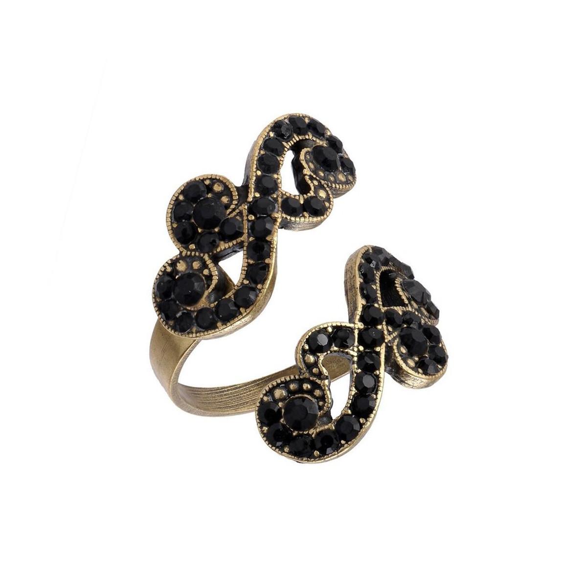 Michal Negrin Spiral Violet  Black Ring