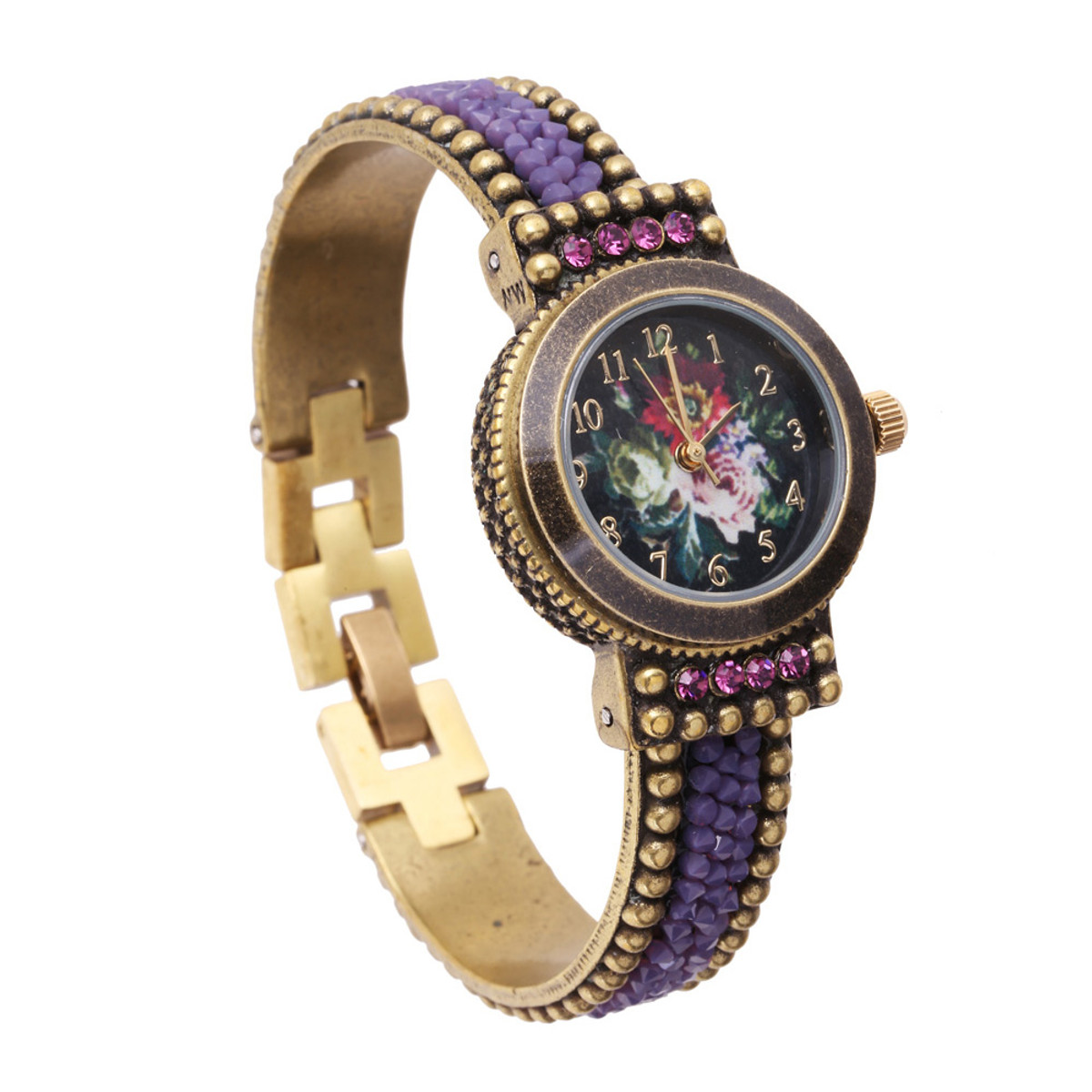 Michal Negrin Liz Jeweled Crystal Hand Watch