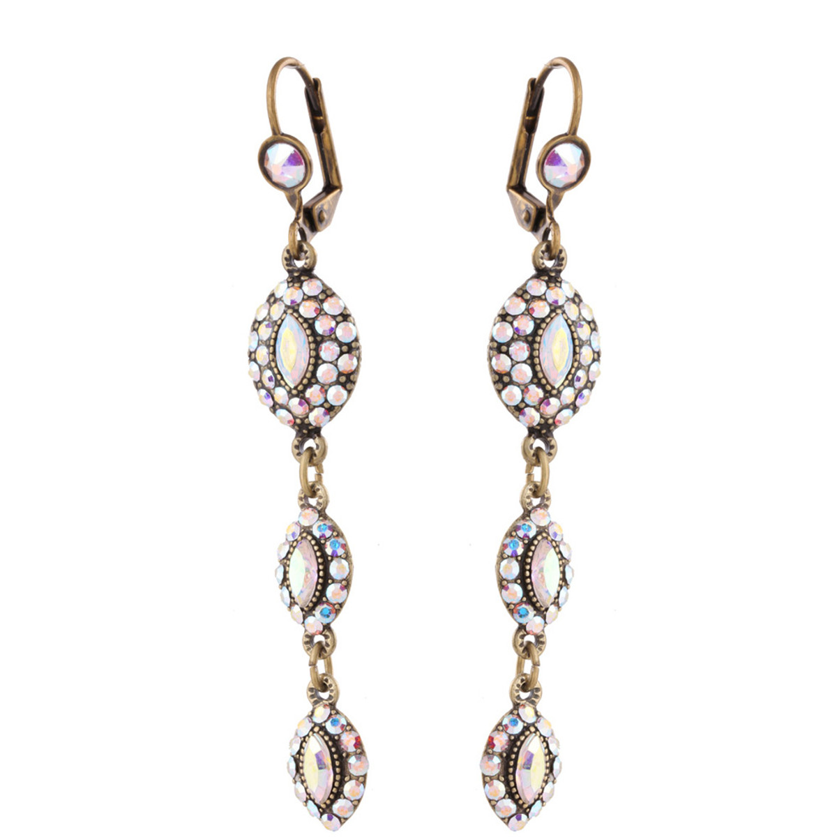 Michal Negrin Leah Lovely Swarovski Crystals Earrings