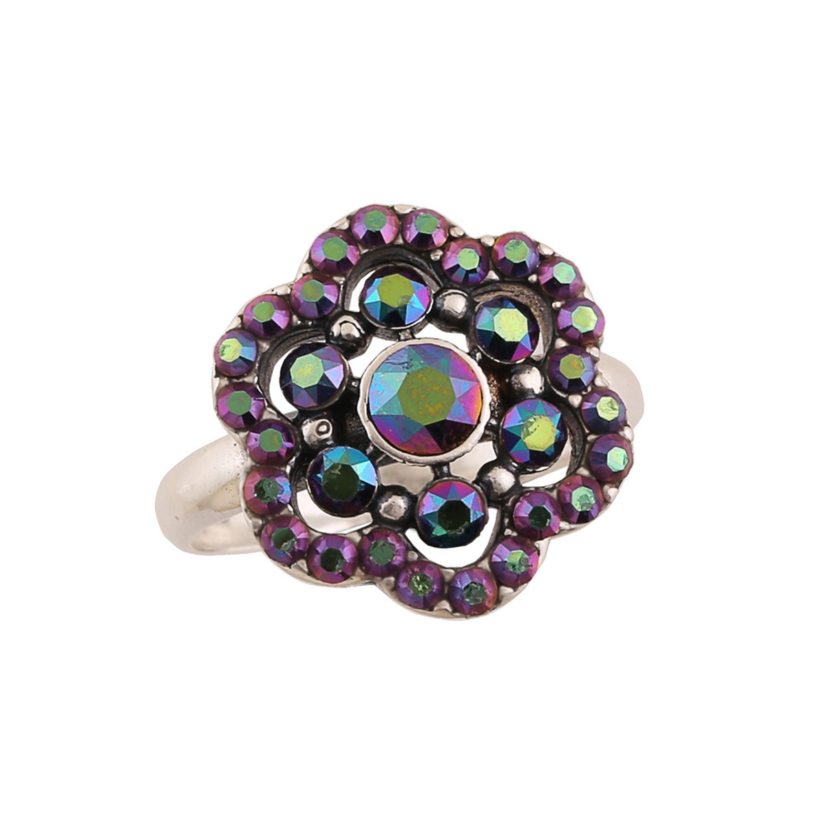 Michal Negrin Houston Flower Silver 925 Ring Size 6