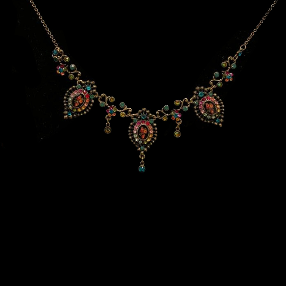 Michal Negrin Victorian Night Crystals Necklace