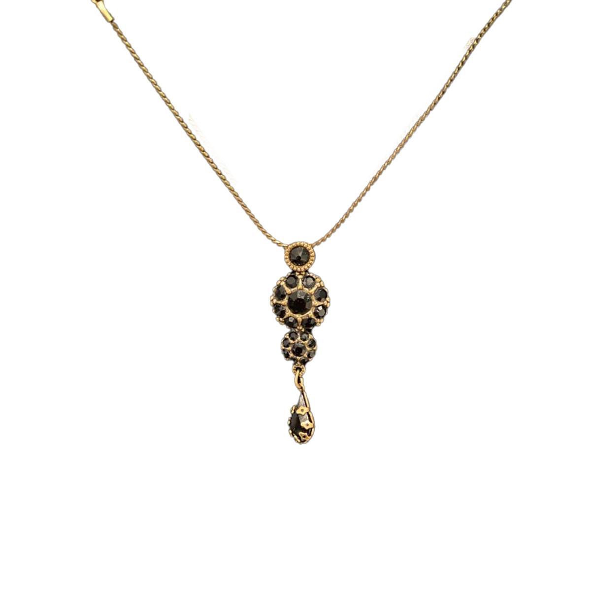 Michal Negrin Victorian Flower Power Swarovski Crystals Necklace