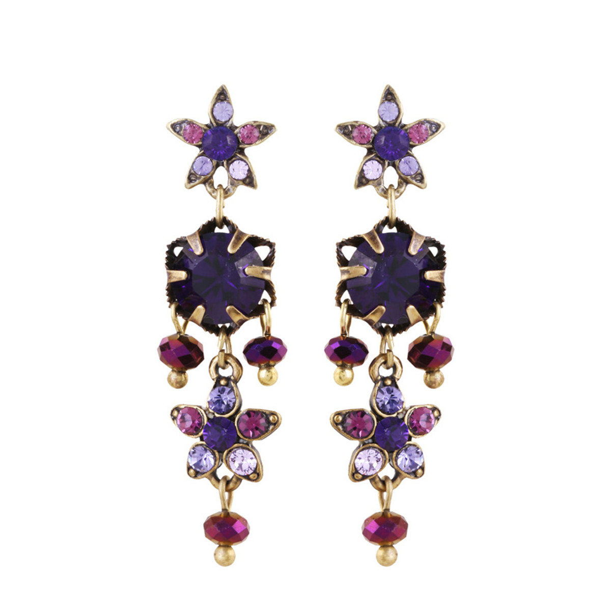 Michal Negrin Ingrid Crystal Stud Earrings