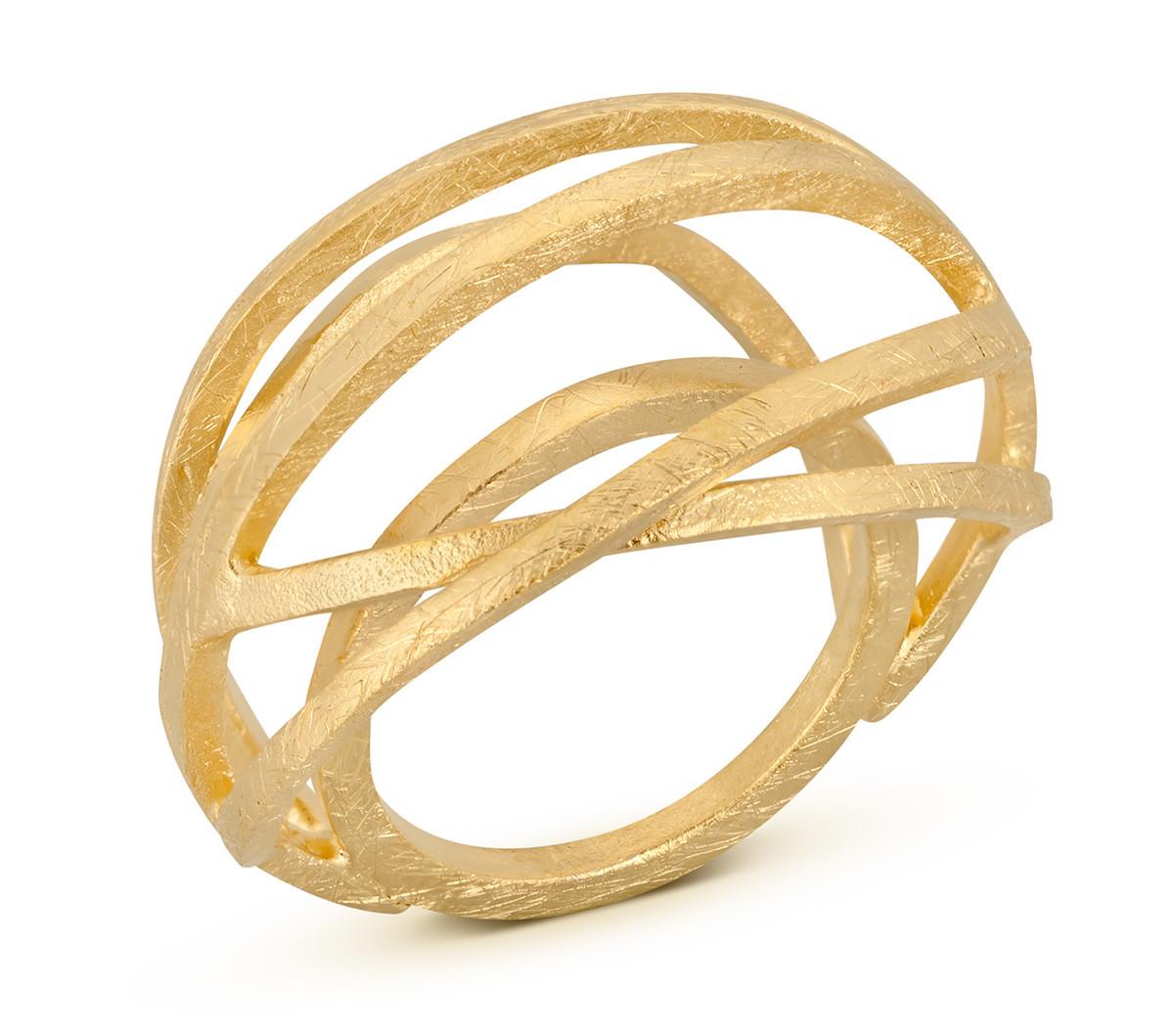 Joidart Valentina Large Gold Ring Size 7