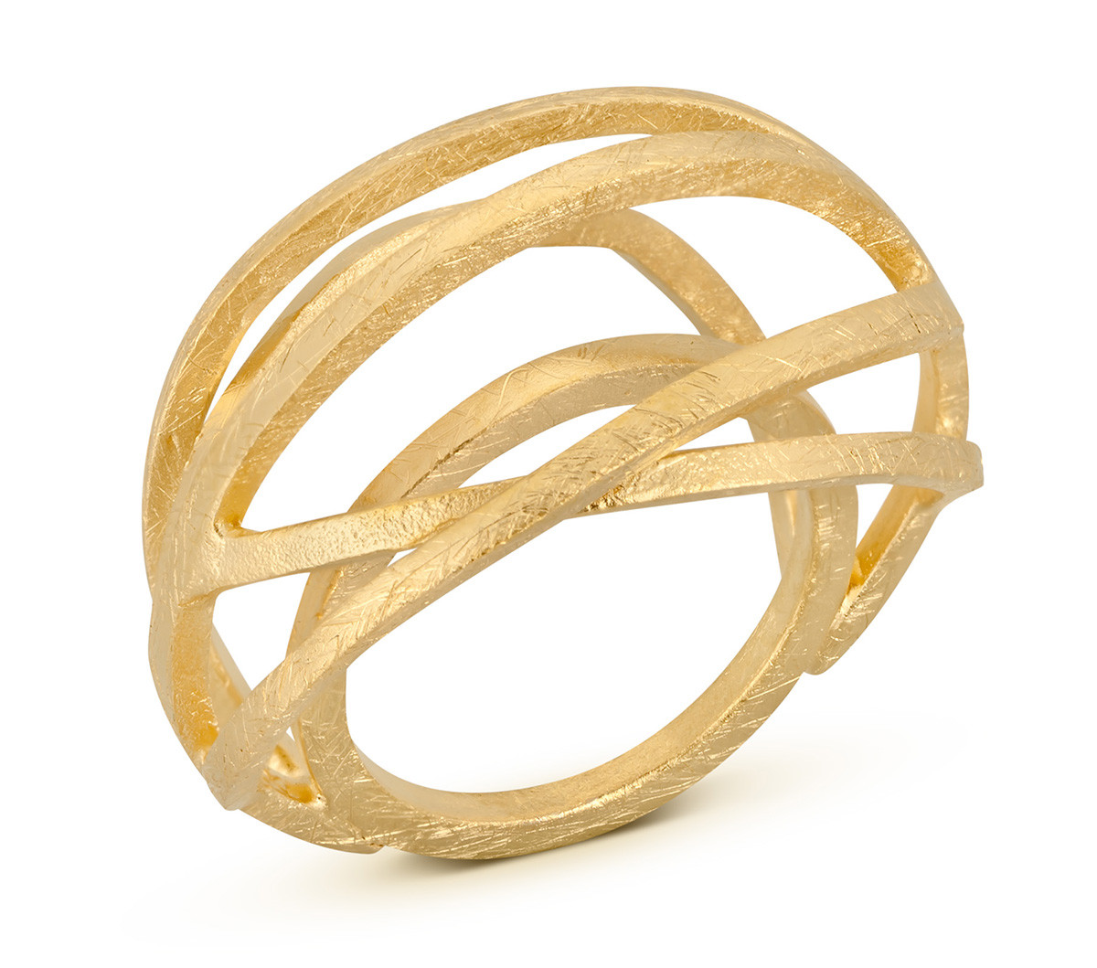 Joidart Valentina Large Gold Ring Size 8