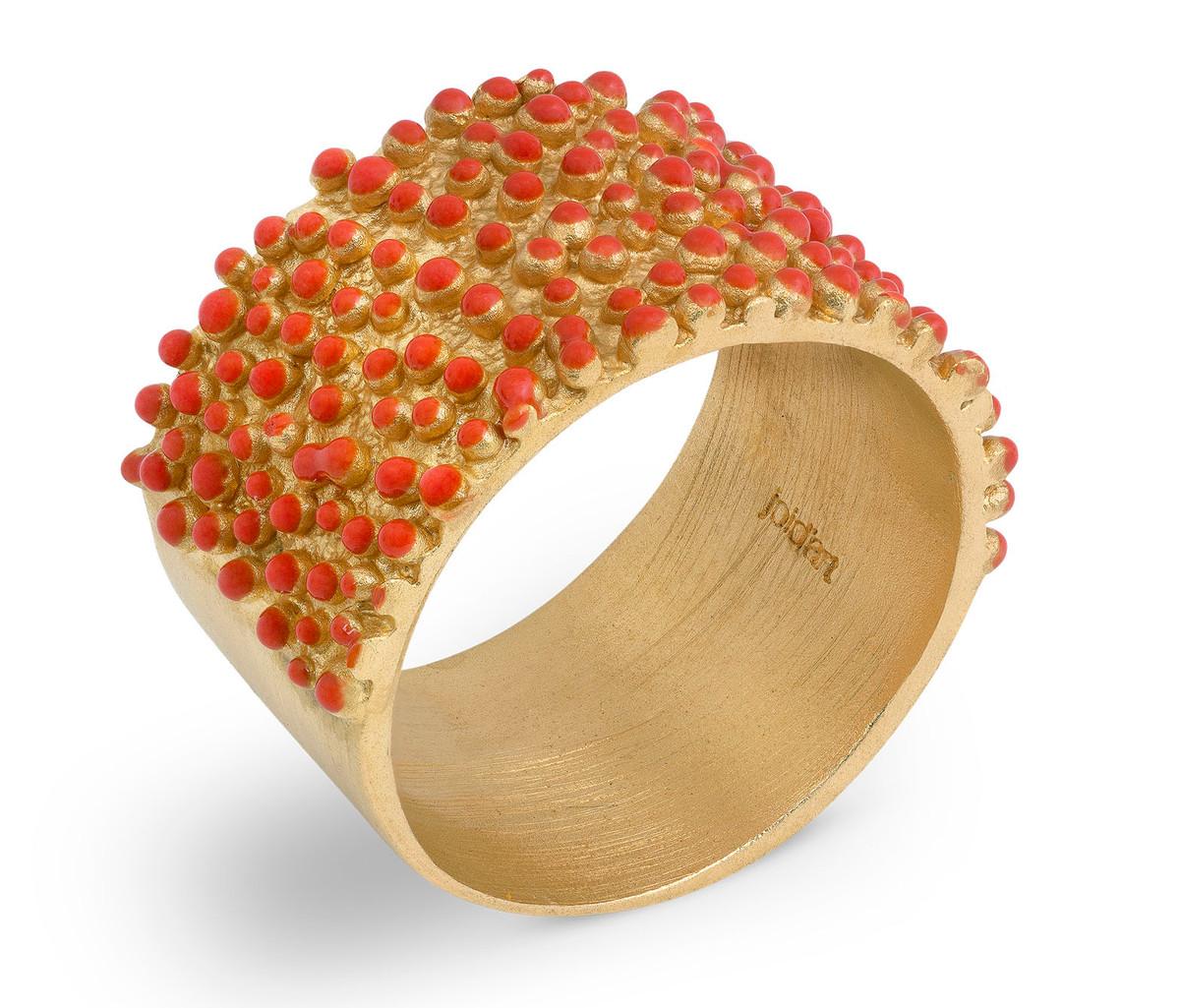 Joidart Estiu Ring Red Gold Size 7