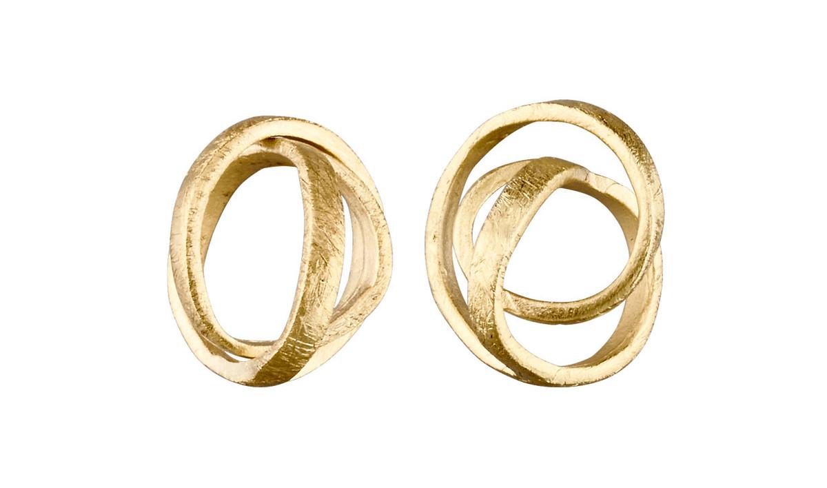 Joidart Embolic Small Post Gold Earrings