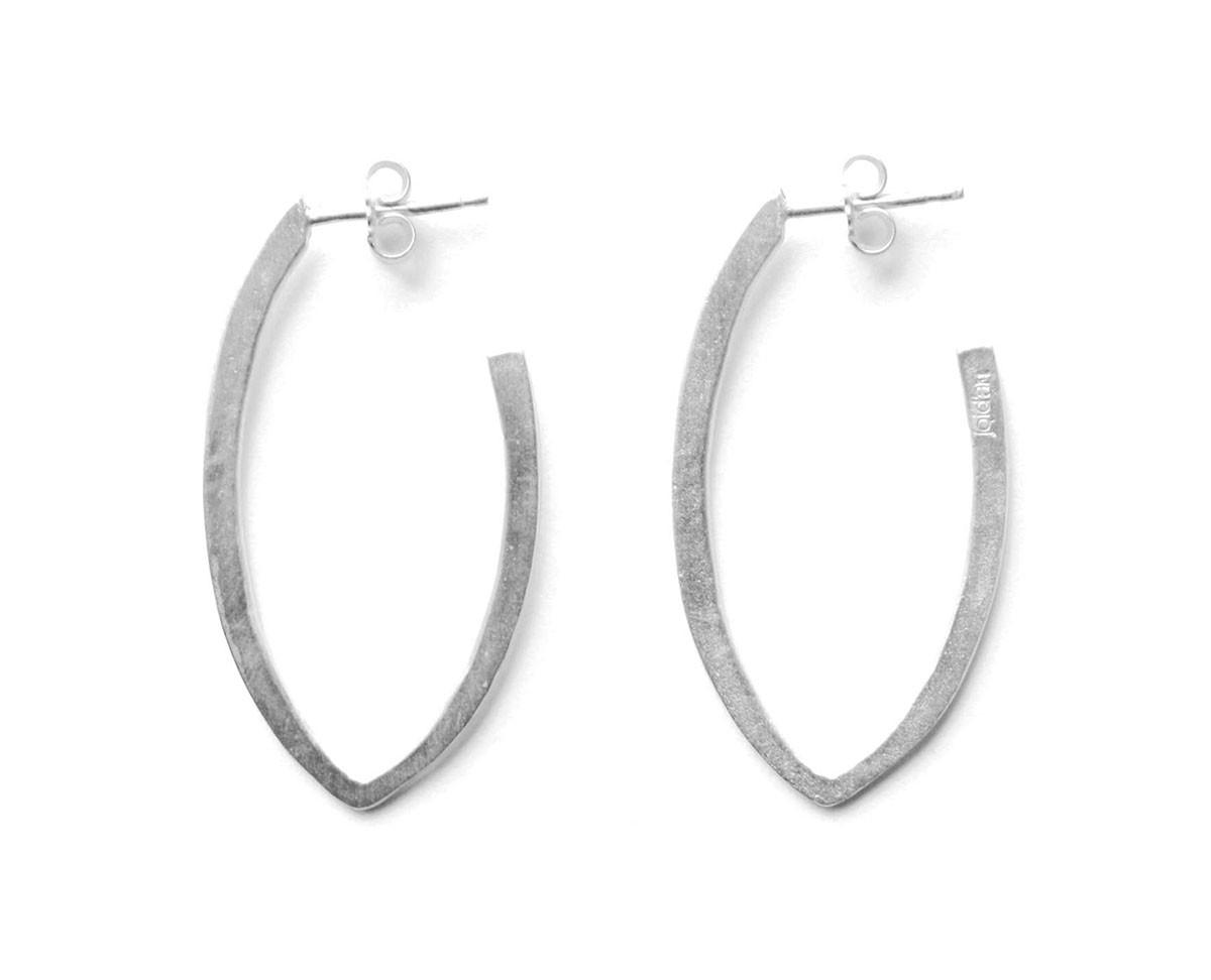 Joidart Daily Sterling  Pointed Oval Hoop Earrings