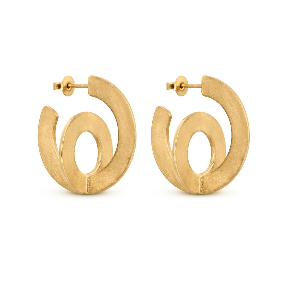 Joidart Cercles Large Hoop Gold Earrings