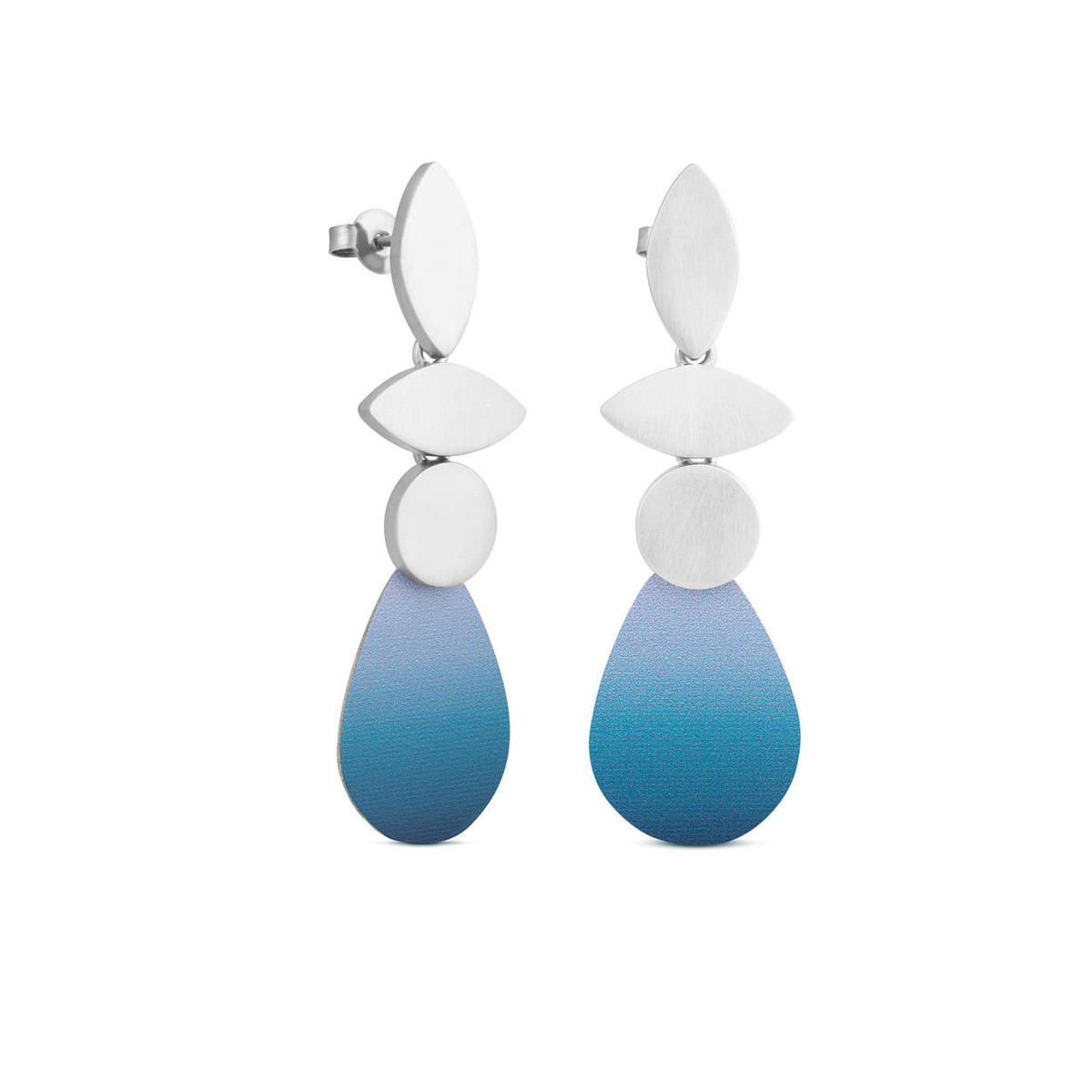 Joidart Captard 3 Piece Drop Silver Earrings Blue