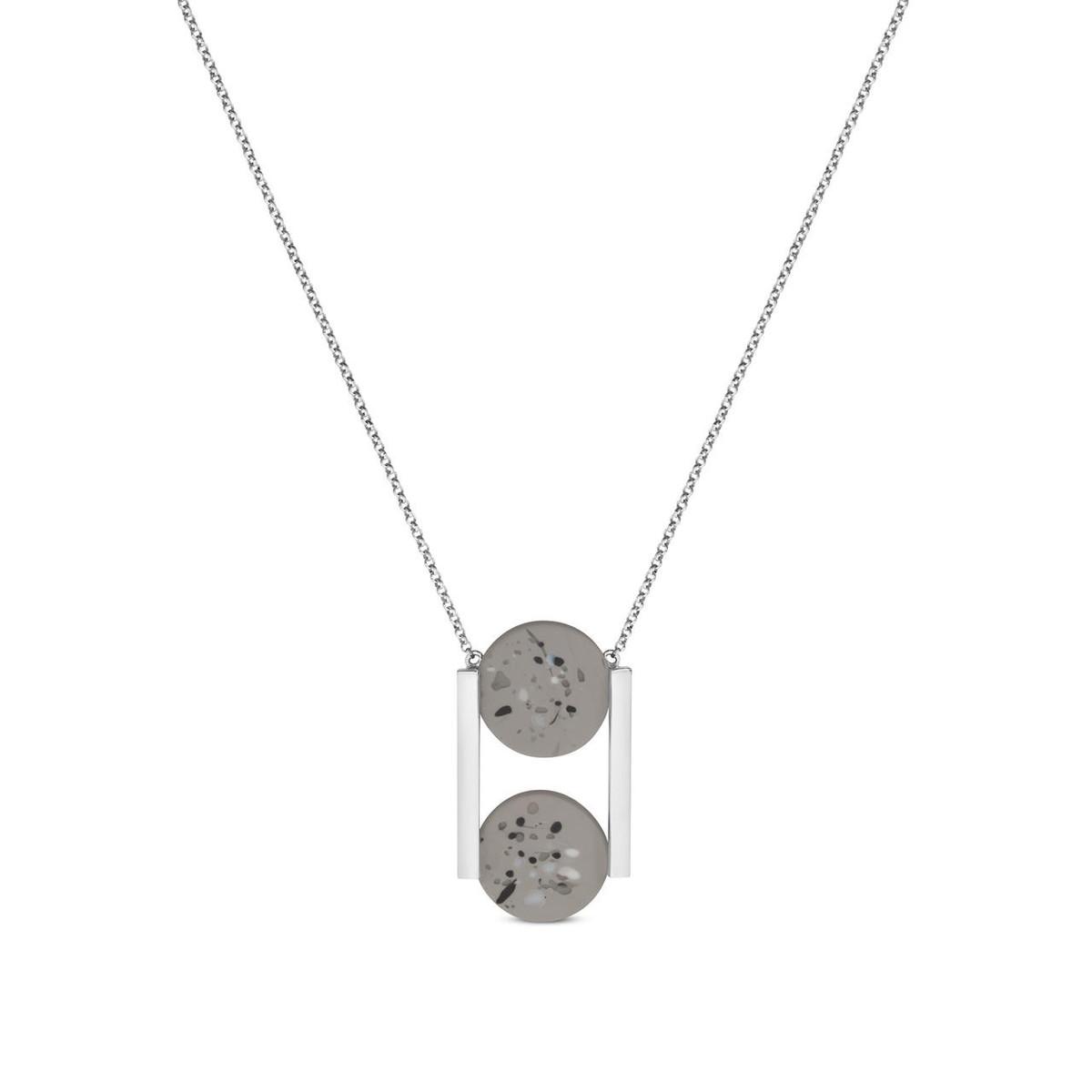 Joidart Terrazzo Double Pendant Grey Silver