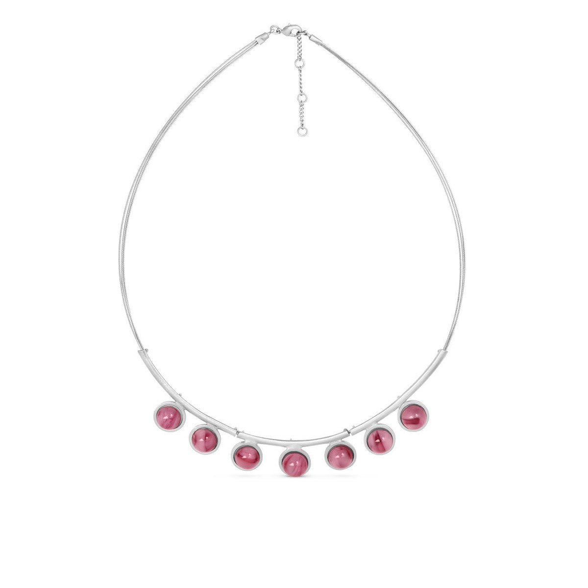 Joidart Anais Large Necklace Red Silver