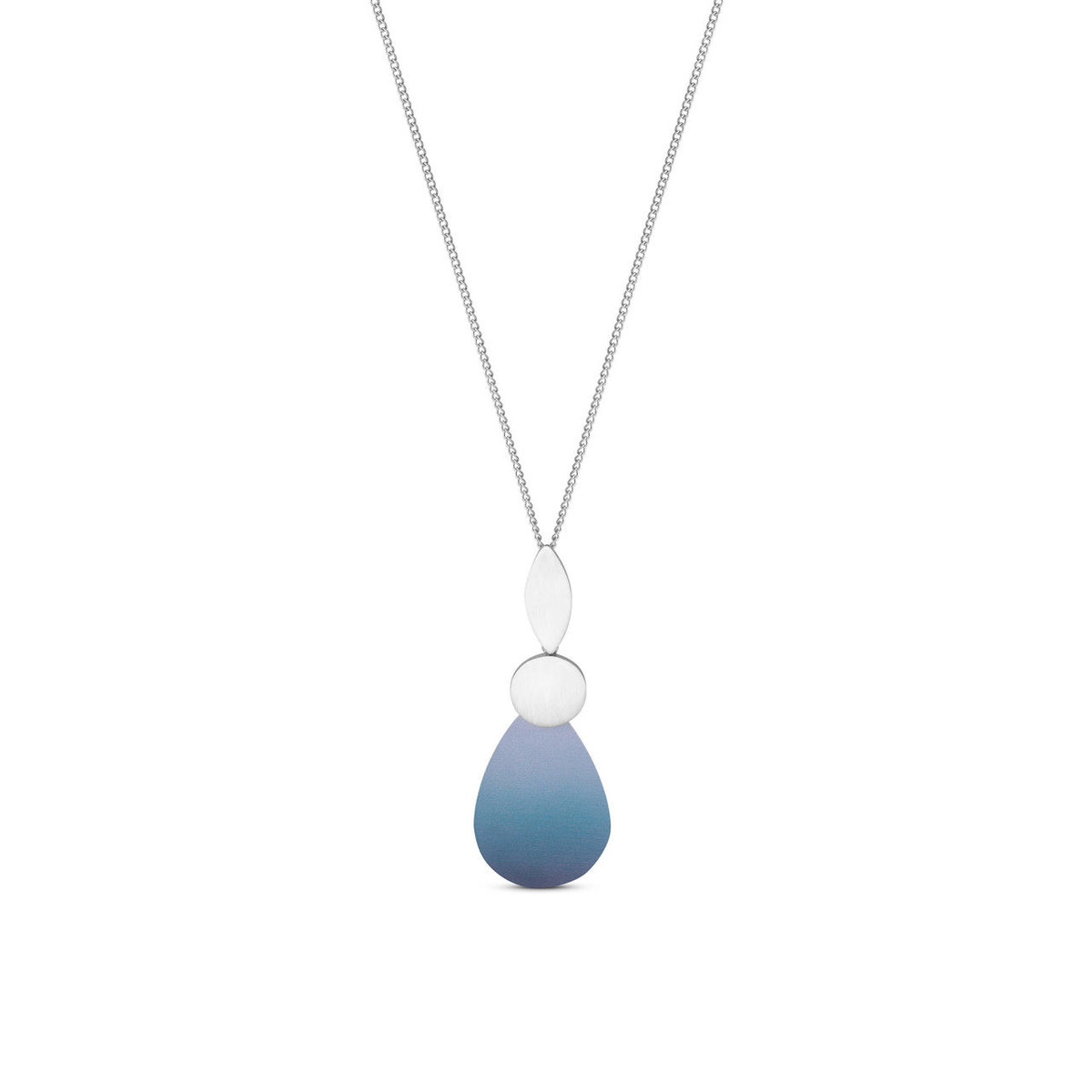 Joidart Captard Long Silver Pendant Blue