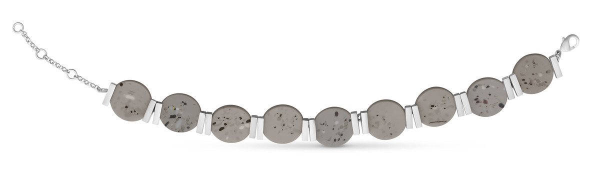 Joidart Terrazzo Link Bracelet Grey Silver