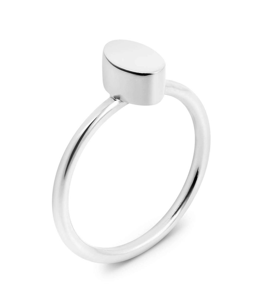 Joidart Toujours Oval Silver Ring