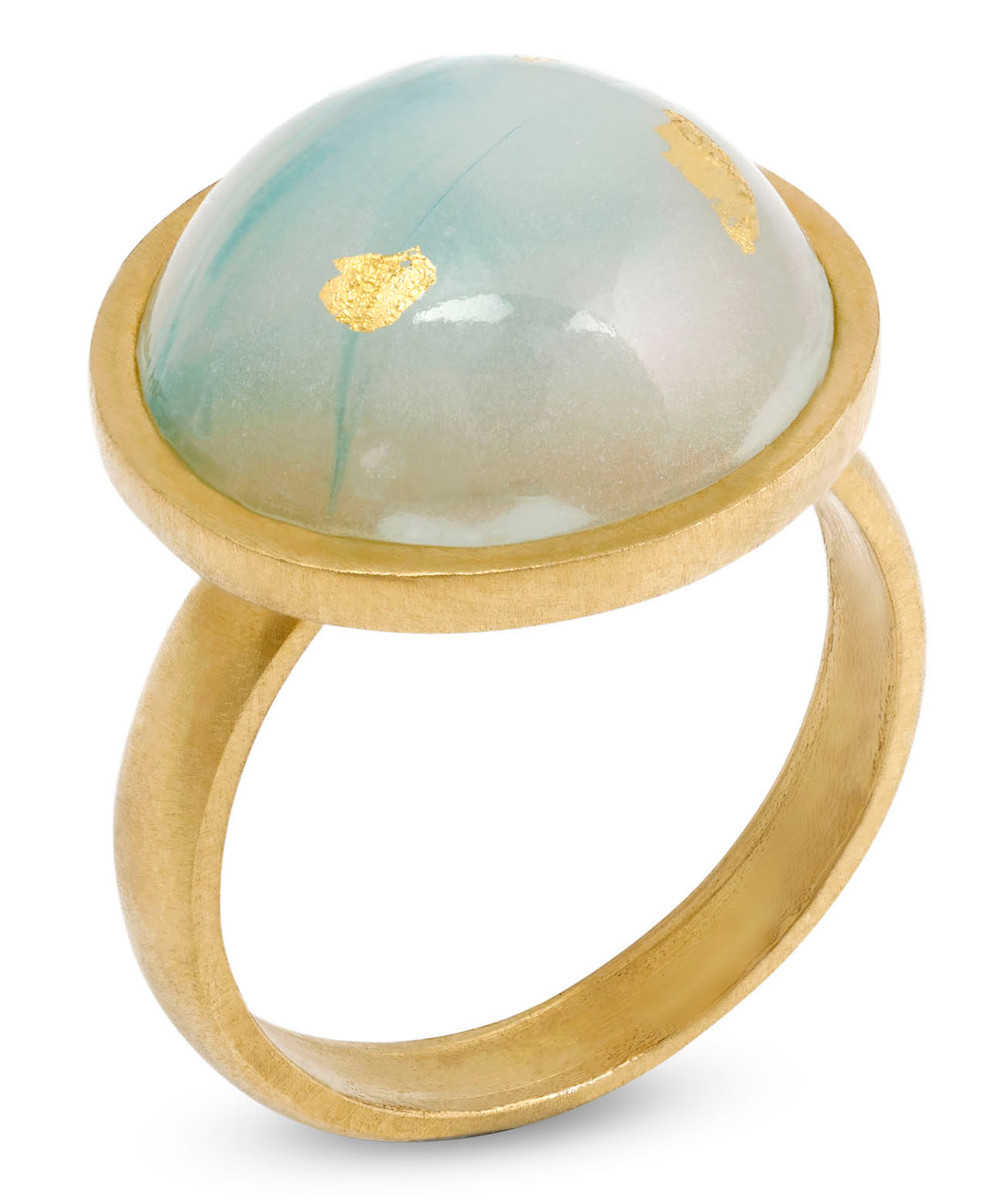 Joidart Anais Ring Green Gold