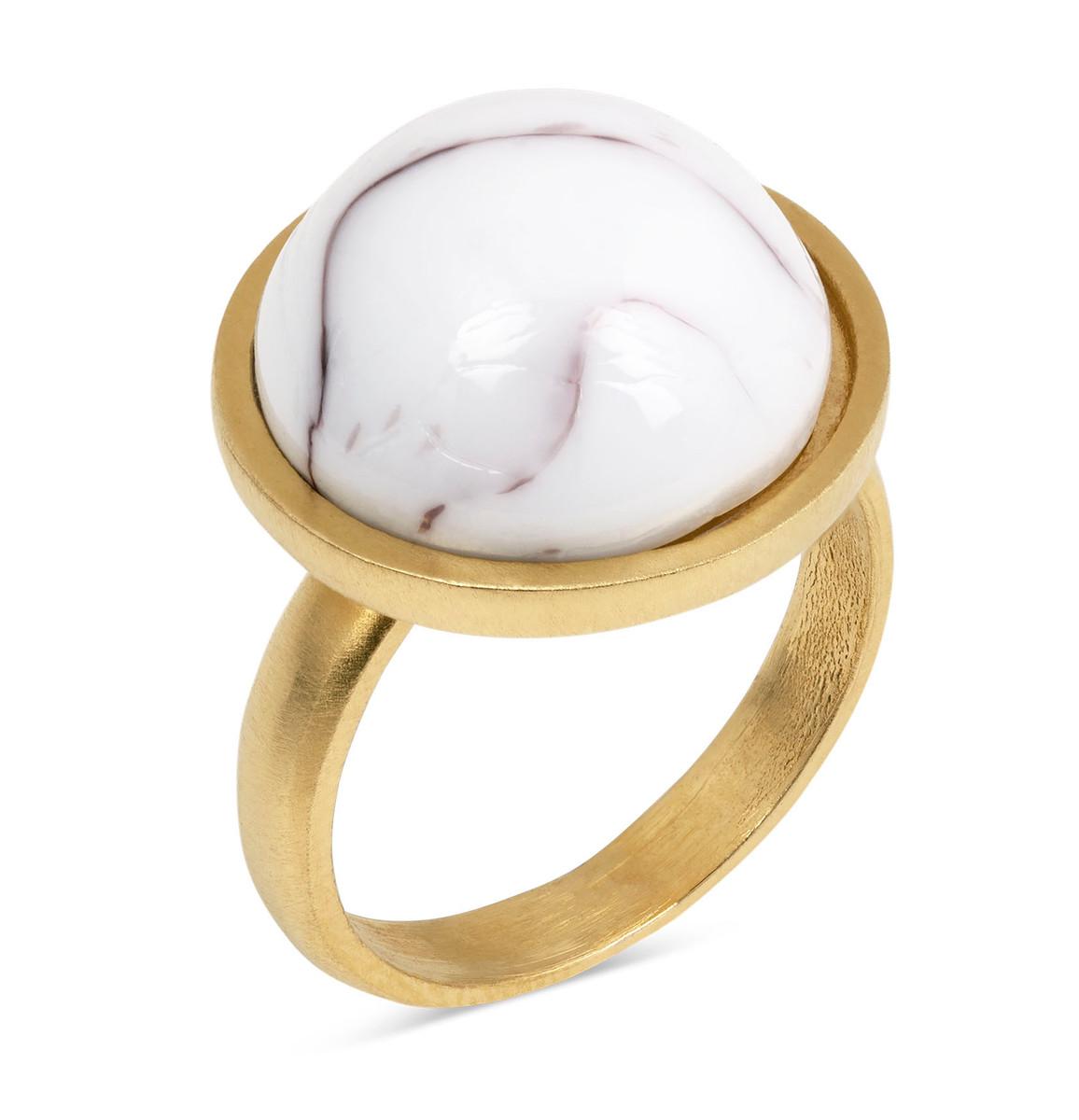 Joidart Anais Ring Brown Gold