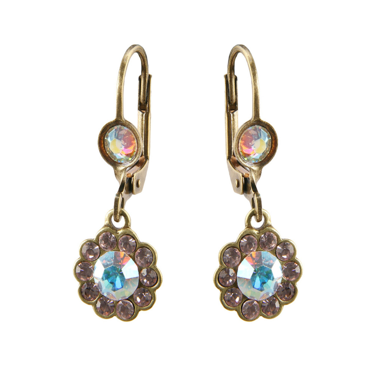 Michal Negrin French Wire Purple Bright Earrings