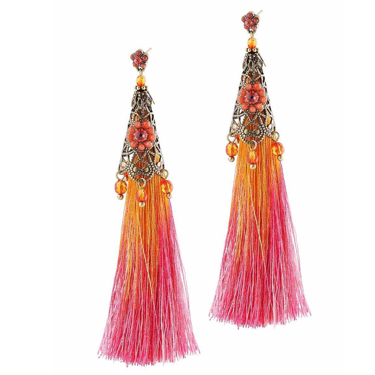 Michal Negrin Fairy Tassels Wire Earrings