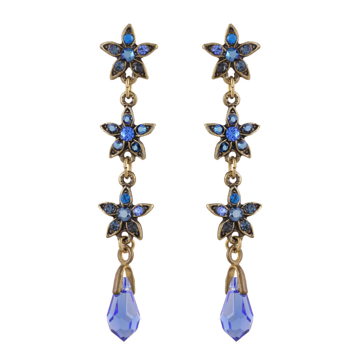 Michal Negrin Gisele Blue Star Earrings