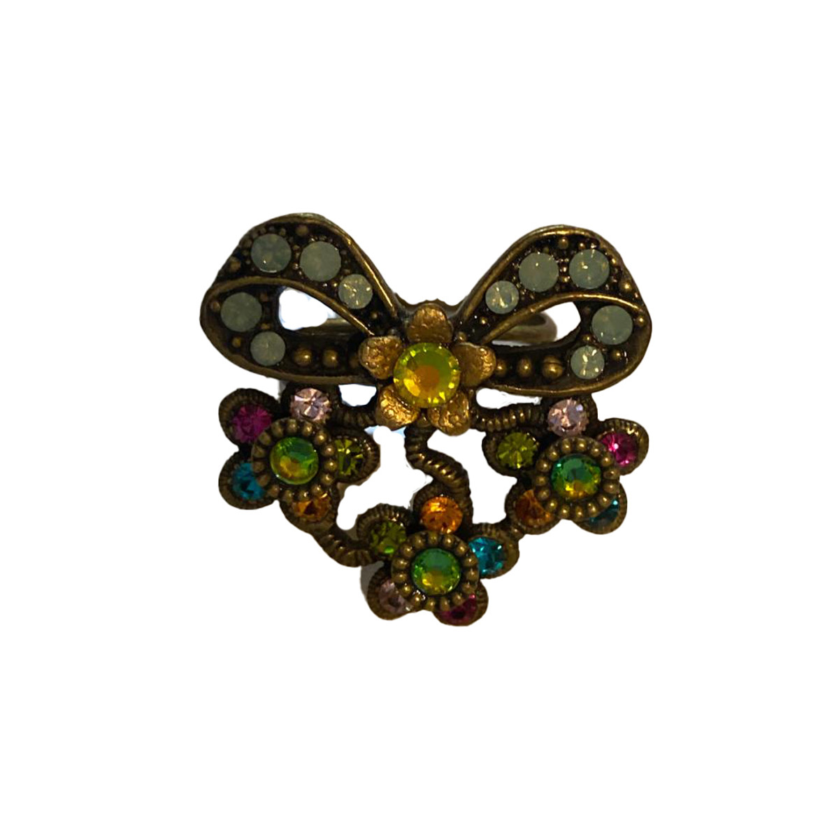 Michal Negrin Bedazzled Bow Adjustable Ring