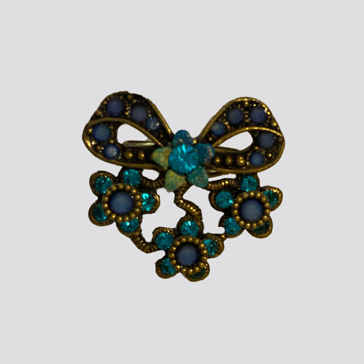Michal Negrin Bedazzled Bow Swarovski Crystal Ring