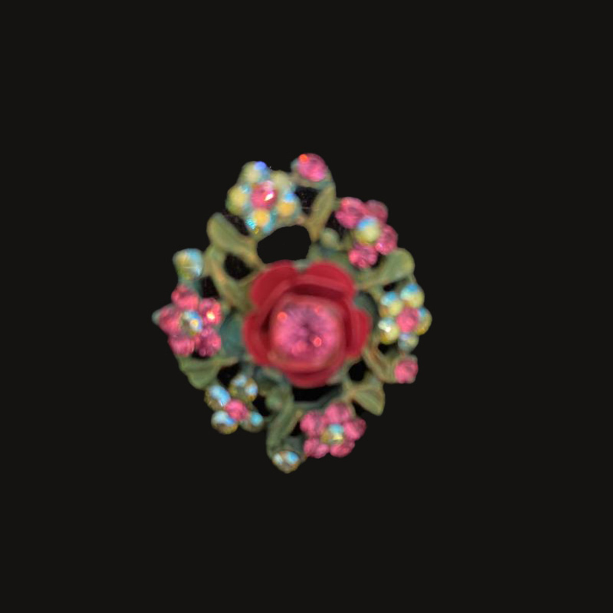 Michal Negrin Victorian Flower Power Red Ring