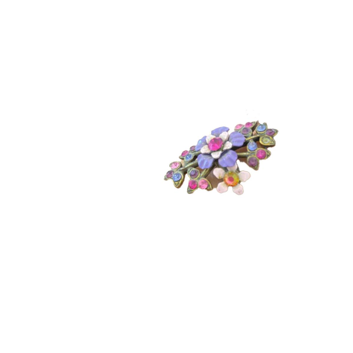 Michal Negrin Victorian Flower Power Purple Ring