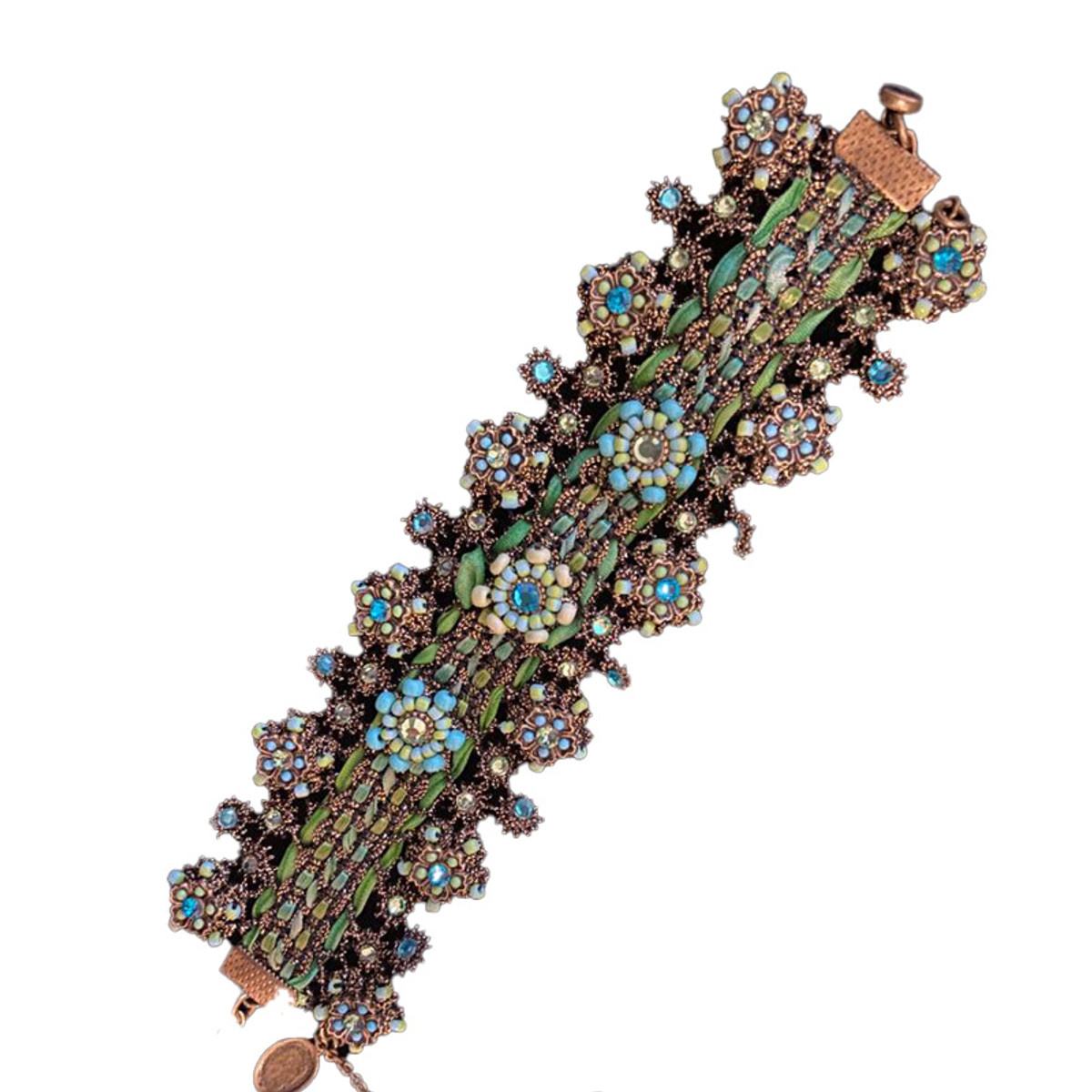 Michal Negrin Lace Unforgettable Turquoise Green Bracelet