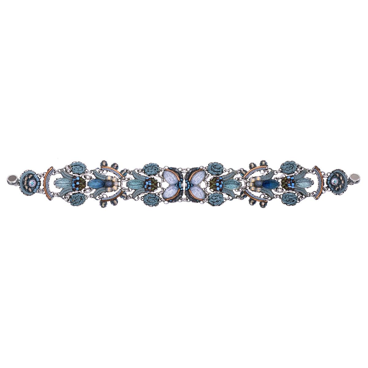 Ayala Bar Blue Velvet Flower Garden Bracelet