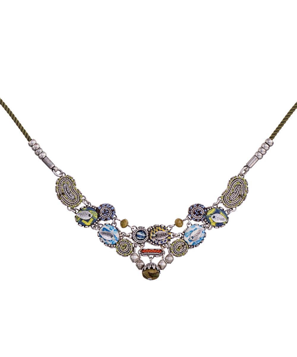 Ayala Bar Butterfly Wings Daisy Field Necklace