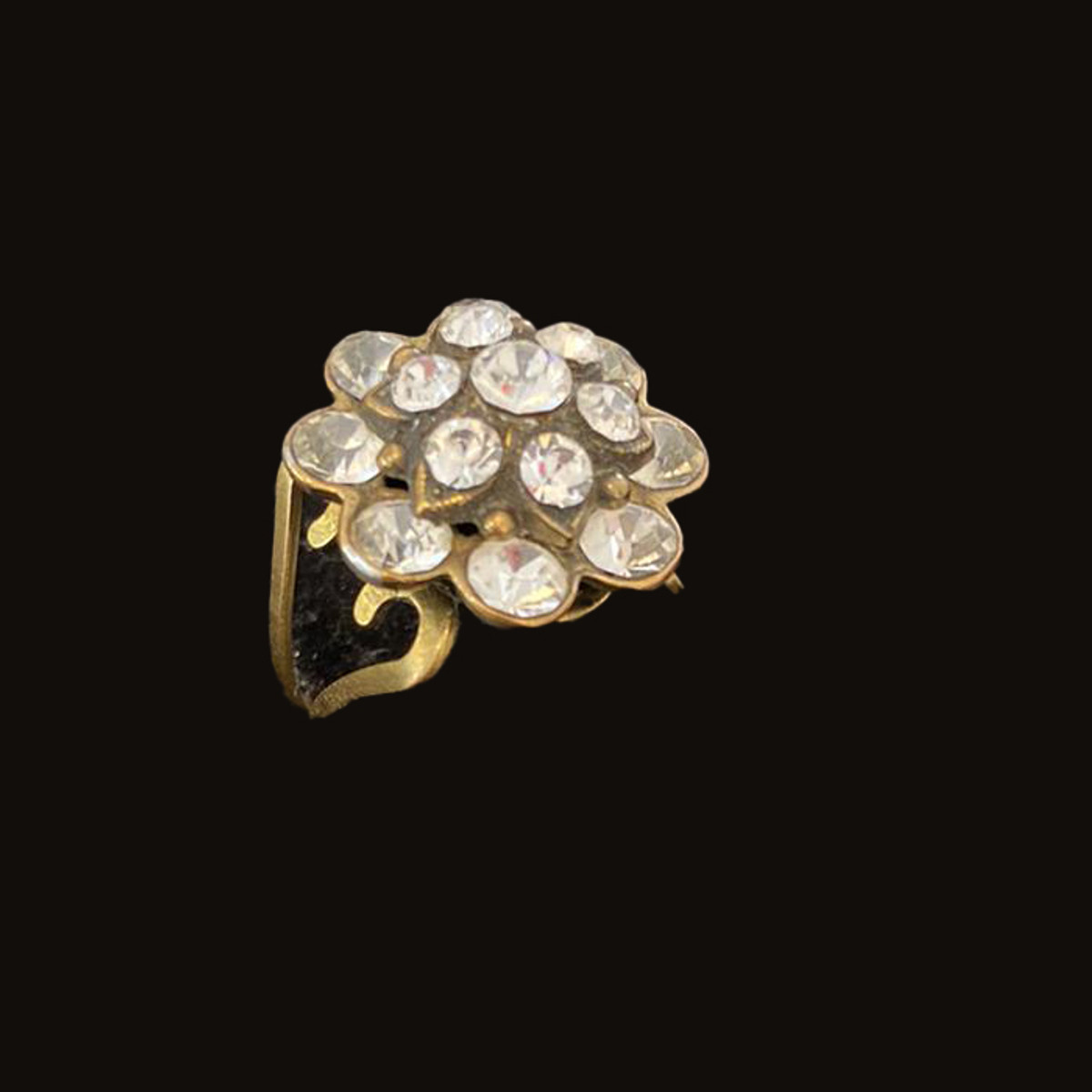 Michal Negrin Swarovski Crystals Icy Flower Adjustable Ring
